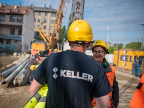 Vue chantier Kellermann deux collaborateurs