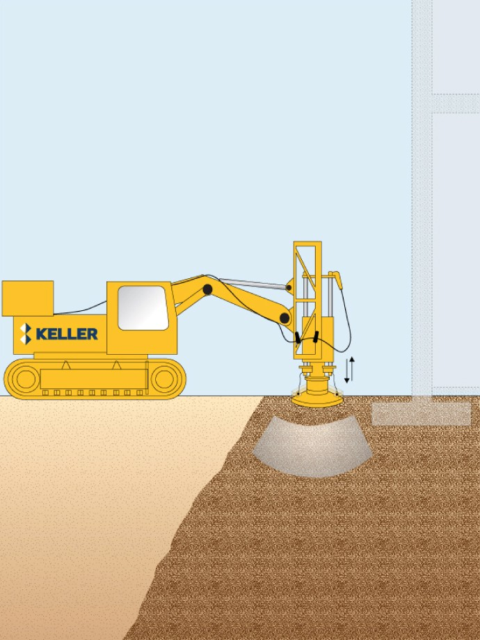 Rapid impact compaction (RIC)